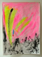 Abstract-No3-2008-700mm-x-505mm-Acrylic-and-mixed-media-on-paper