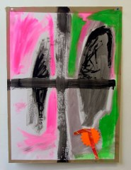 Dancing-to-Prison-2008-700mm-x-505mm-Acrylic-and-paper-on-paper
