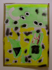 Its-Gone-Titters-Up-2008-700mm-x-505mm-Acrylic-and-mixed-media-on-paper