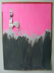 The-Luckiest-Girl-Alive-2008-700mm-x-505mm-Acrylic-and-paper-on-paper