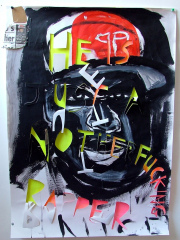 50-cent-acrylic-parcel-tape-and-newsprint-on-paper-2008