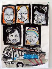 Bus-Acrylic-on-Paper-83cm-x-59cm-2008