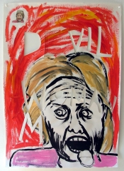 Hilary-She-Devil-Acrylic-on-Paper-83cm-x-59cm-2008