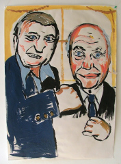 Joe-Bugner-and-Henry-Cooper-Acrylic-on-Paper-83cm-x-59cm-2008