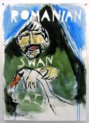 Romanian-Swan-Eater-Acrylic-on-Paper-83cm-x-59cm-2008
