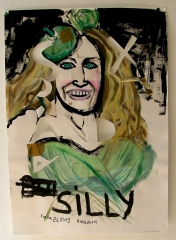 Sex-and-the-Silly-Acrylic-on-Paper-83cm-x-59cm-2008