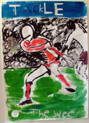 Tackle-of-the-Week-Acrylic-on-Paper-83cm-x-59cm-2008