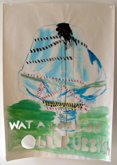 Wot-A-Load-of-Rubbish-Acrylic-on-Paper-83cm-x-59cm-2008