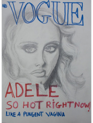 NO-VOGUE-ADELE-2012-350mm-x-270mm-Mixed-media-on-paper