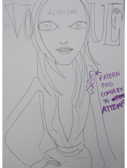 NO-VOGUE-ALIEN-CHIC-2012-350mm-x-270mm-Mixed-media-on-paper