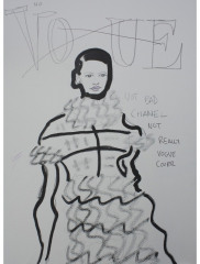 NO-VOGUE-CHANEL-2012-350mm-x-270mm-Mixed-media-on-paper