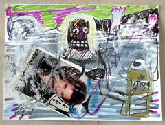 Blue-Steel-Lagoon-2013-Various-sizes-Mixed-media-on-paper