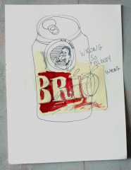Brio-Beer-2013-Various-sizes-Mixed-media-on-paper