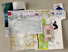 HAPPY-HAPPY-EAST-ICELAND-Various-sizes-Mixed-media-on-paper