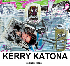 Kerry-Katona-Icelandic-Krona-exhibition-poster-2013-Varius-sizes-Mixed-media-on-paper