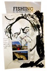 Richard-Hated-Fishing-2013-Various-sizes-Mixed-media-on-paper