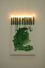 Heres-Luck-Green-Candle-Magic-2009-Magick-spell-on-canvas