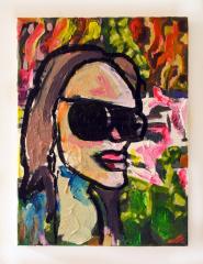 Angelina-Jole-with-doobie-2010-Mixed-media-on-canvas