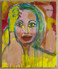 Angelina-with-Yellow-Claw-2012-Mixed-media-on-canvas