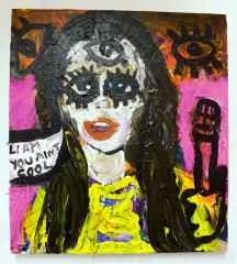 Bip-Ling-says-I-aint-cool-2010-Mixed-media-on-canvas