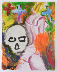 Chanelle-Houghton-with-Death-2010-Mixed-media-on-canvas
