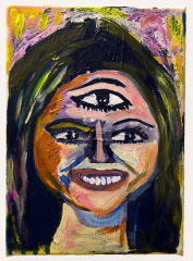 Cheryl-the-all-seeing-2010-Mixed-media-on-canvas