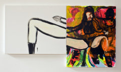 Cheryle-Cole-at-the-Brits-2010-Mixed-media-on-canvas