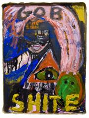Gob-Shite-Riot-Pigs-2012-Mixed-media-on-canvas