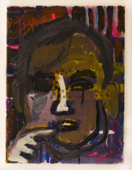 Gordon-Brown-in-various-browns-2010-Mixed-media-on-canvas