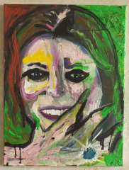 Kate-Fingers-2012-Acrylic-marble-dust-and-ink-on-canvas