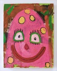 Mr-Blobby-2010-Mixed-media-on-canvas