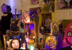 Shrine-to-the-Voudou-god-2011-Installation-view-a-Aubin-Cinema-Shoreditch