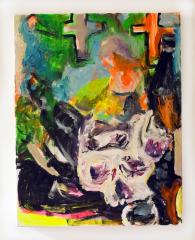 Still-life-with-Skull-2010-Mixed-media-on-canvas