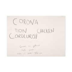 Corona-tion-Cordluroy-Chicken-594mm-x-420mm-Graphite-on-paper