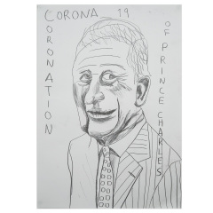 Corona-tion-of-Prince-Charles-594mm-x-420mm-Graphite-on-paper