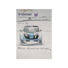 Expensive-Porche-Moment-2020-594mm-x-420mm-Graphite-on-paper