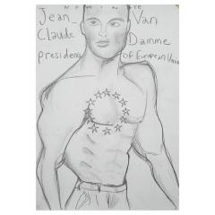 Vote-Jean-Claud-Van-Damme-2019-594mm-x-420mm-Graphite-on-paper